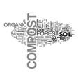 a compost primer text word cloud concept vector image vector image