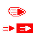 a live streaming video play sign vector image vector image