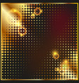 abstract geometric graphic design gold halftone vector image vector image