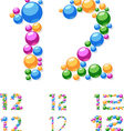 alphabet symbols colorful bubbles or balls vector image