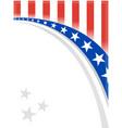 american flag symbol wave pattern frame