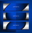 banner blue background design vector image vector image