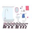 Bathroom cartoon in sketchy style vector image vector image