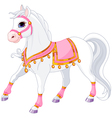 Beautiful white Royal horse vector image vector image