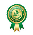 best seller rosette vector image