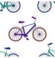 bike embroidery seamless pattern vector image vector image