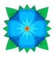 blue geometric flower vector image vector image