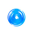 blue round swirl logo hurricane and typhoon vector image vector image