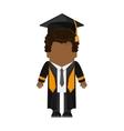 boy graduation cap design vector image vector image