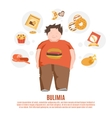Bulimia Concept Flat vector image