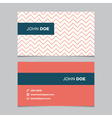 business card pattern red 02 vector image