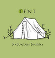 Camping tent for tourism sketch for your design