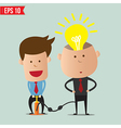 Cartoon Business man pump idea - - EPS10 vector image vector image