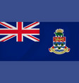 cayman islands waving flag vector image vector image