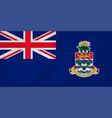 cayman islands waving flag vector image