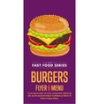Cheeseburger sale flyer vector image vector image