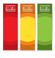Colorful Set Of Three Abstract Vertical Banners vector image vector image