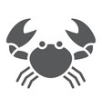 crab glyph icon animal and underwater vector image vector image
