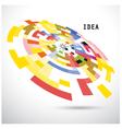 Creative circle abstract logo design backgr vector image vector image