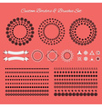 Custom borders brushes and symbols icons set vector image