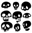 cute skull set vector image