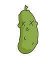 dead funny dill pickle cartoon vector image vector image