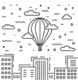 Dirigible and hot air balloons airship vector image vector image