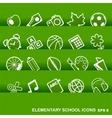 Education Icons basics elementary school vector image vector image