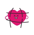 Fashion patch heartthat breaks the bars vector image vector image