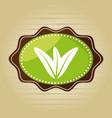 food healthy vegetarian natural label vector image