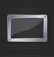 glass frame grill border vector image
