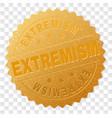 golden extremism award stamp vector image vector image