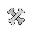 grated bones dangerous alert symbol of death vector image vector image