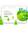 green city eco friendly web landing page design vector image vector image