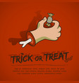 halloween greeting poster vector image