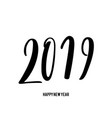 happy new 2019 year vector image vector image