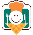 happy smiley chef face vector image