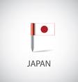Japan flag pin vector image vector image