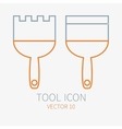 Line working color spatula for construction vector image