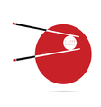 love sushi icon in red vector image vector image