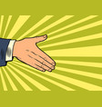 men hand in a handshake vector image vector image