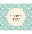 Message I Love You in circle on a seamless pattern vector image