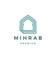 mihrab logo icon vector image
