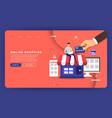 mock-up design website flat design concept online vector image vector image