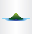mountain island in ocean abstract symbol design vector image vector image