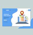 ordering food online shopping market basket vector image