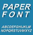 paper font design for typographyon vector image vector image