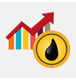 Petroleum design economy and industry design vector image vector image