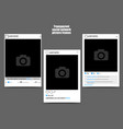 photo frame for social network picture on dark vector image