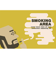 Poster smoking area earth tone vector image vector image